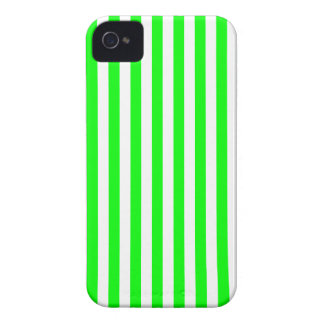 Thin Stripes - White and Electric Green iPhone 4 Case-Mate Cases