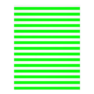 Thin Stripes - White and Electric Green Letterhead Design
