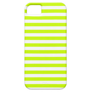 Thin Stripes - White and Fluorescent Yellow Case For The iPhone 5
