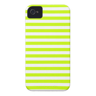 Thin Stripes - White and Fluorescent Yellow iPhone 4 Cover