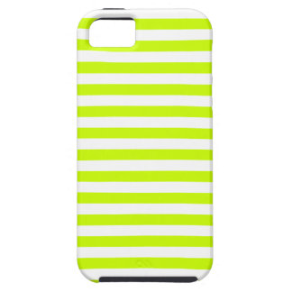 Thin Stripes - White and Fluorescent Yellow iPhone 5 Cases