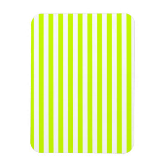 Thin Stripes - White and Fluorescent Yellow Magnet