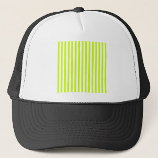 Thin Stripes - White and Fluorescent Yellow Trucker Hat