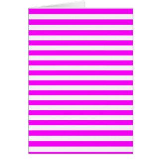 Thin Stripes - White and Fuchsia Card