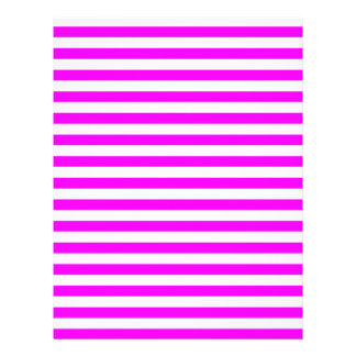 Thin Stripes - White and Fuchsia Letterhead