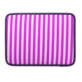 Thin Stripes - White and Fuchsia Sleeve For MacBook Pro