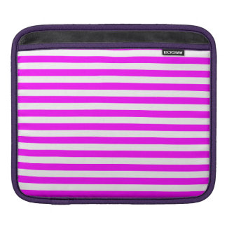 Thin Stripes - White and Fuchsia Sleeves For iPads