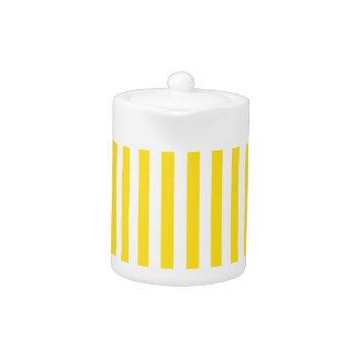 Thin Stripes - White and Golden Yellow