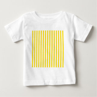 Thin Stripes - White and Golden Yellow Baby T-Shirt