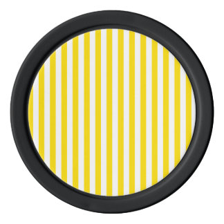 Thin Stripes - White and Golden Yellow Poker Chips