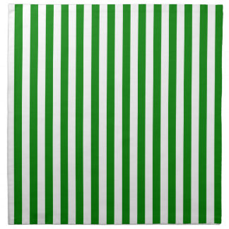 Thin Stripes - White and Green Napkin