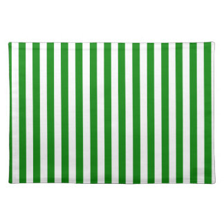 Thin Stripes - White and Green Placemat