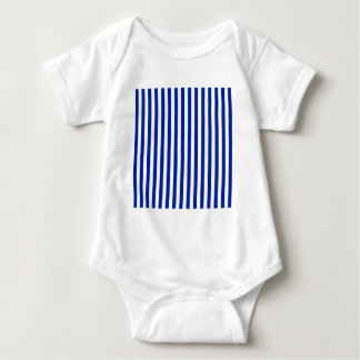 Thin Stripes - White and Imperial Blue Baby Bodysuit