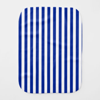 Thin Stripes - White and Imperial Blue Baby Burp Cloth