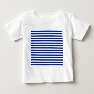 Thin Stripes - White and Imperial Blue Baby T-Shirt