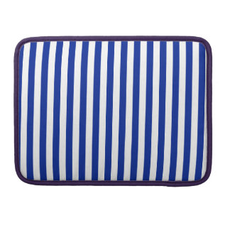 Thin Stripes - White and Imperial Blue Sleeves For MacBook Pro