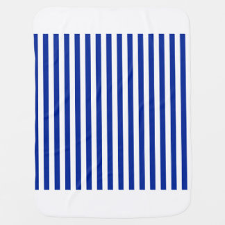 Thin Stripes - White and Imperial Blue Swaddle Blankets