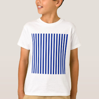 Thin Stripes - White and Imperial Blue T-Shirt