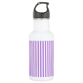 Thin Stripes - White and Lavender 532 Ml Water Bottle