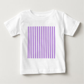 Thin Stripes - White and Lavender Baby T-Shirt