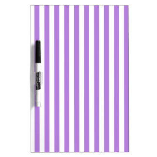 Thin Stripes - White and Lavender Dry Erase Whiteboards