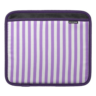 Thin Stripes - White and Lavender iPad Sleeve