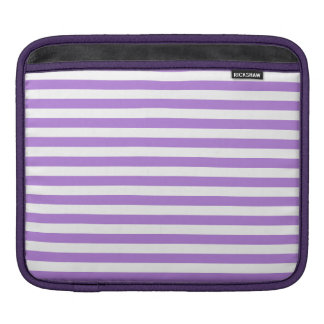 Thin Stripes - White and Lavender iPad Sleeves