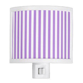 Thin Stripes - White and Lavender Nite Light