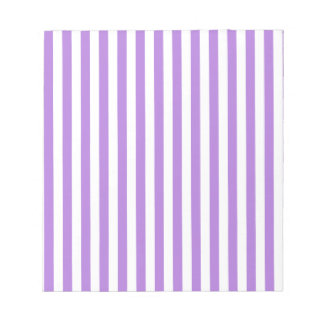 Thin Stripes - White and Lavender Notepad