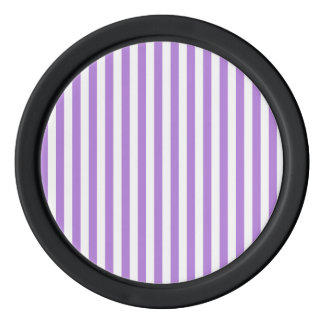 Thin Stripes - White and Lavender Poker Chips Set