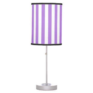 Thin Stripes - White and Lavender Table Lamp