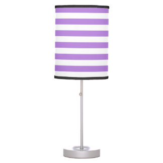 Thin Stripes - White and Lavender Table Lamps