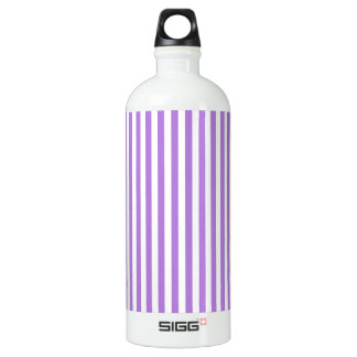 Thin Stripes - White and Lavender Water Bottle