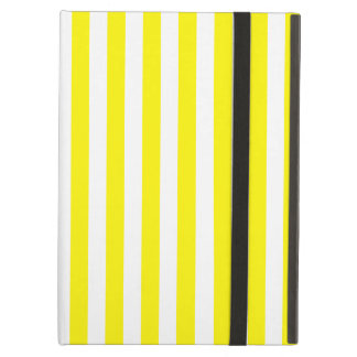 Thin Stripes - White and Lemon Cover For iPad Air