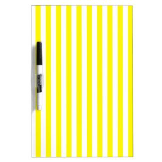 Thin Stripes - White and Lemon Dry-Erase Whiteboard