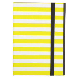Thin Stripes - White and Lemon iPad Air Case