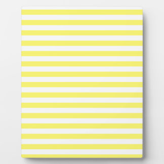 Thin Stripes - White and Lemon Plaque