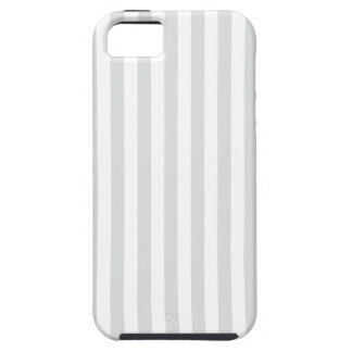 Thin Stripes - White and Light Gray Case For The iPhone 5