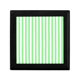 Thin Stripes - White and Light Green Gift Box