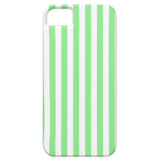 Thin Stripes - White and Light Green iPhone 5 Case