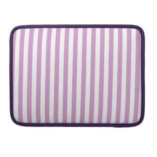 Thin Stripes - White and Light Medium Orchid Sleeve For MacBooks