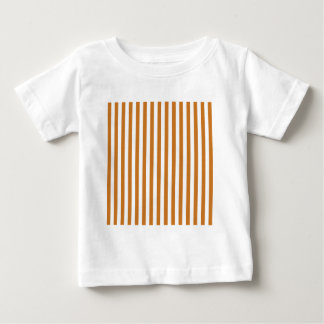 Thin Stripes - White and Ochre Baby T-Shirt