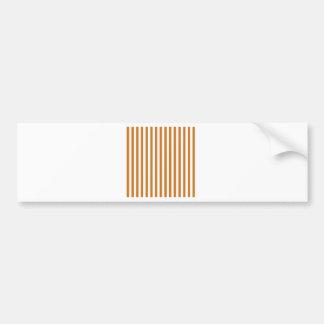 Thin Stripes - White and Ochre Bumper Sticker