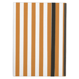Thin Stripes - White and Ochre iPad Air Covers