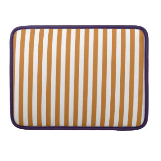 Thin Stripes - White and Ochre Sleeves For MacBooks