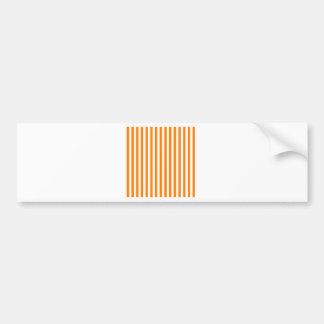 Thin Stripes - White and Orange Bumper Sticker
