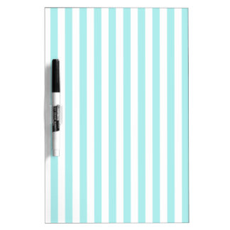 Thin Stripes - White and Pale Blue Dry Erase Boards