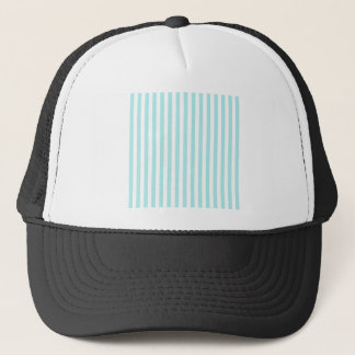 Thin Stripes - White and Pale Blue Trucker Hat