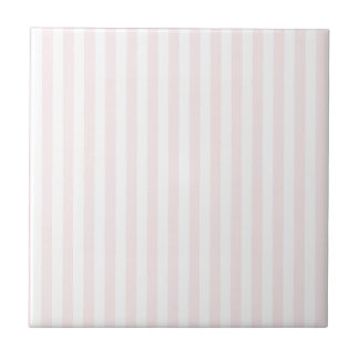 Thin Stripes - White and Pale Pink Ceramic Tiles