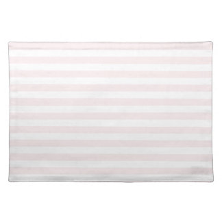 Thin Stripes - White and Pale Pink Placemat